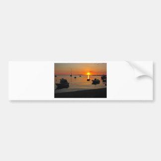 Pôr do sol ao porto de Novalja n iKroatien Adesivo De Para-choque