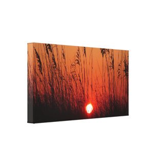 Por do sol bonito na lona esticada impressão de canvas esticada