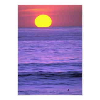 Por do sol bonito: Recife do tampo da mesa, praia Convite 12.7 X 17.78cm
