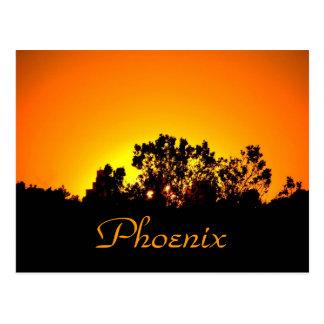Por do sol colorido pelo cartão de Bobby Mikul