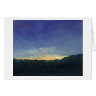 Por do sol compartilhado - cartão de nota
