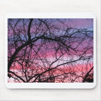 Por do sol cor-de-rosa e roxo mousepad