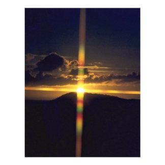 Por do sol cristão modelo de panfletos