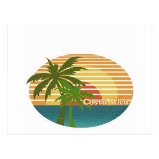 Por do sol de Costa Rica Cartão Postal