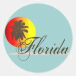 Por do sol de Florida Adesivo Redondo