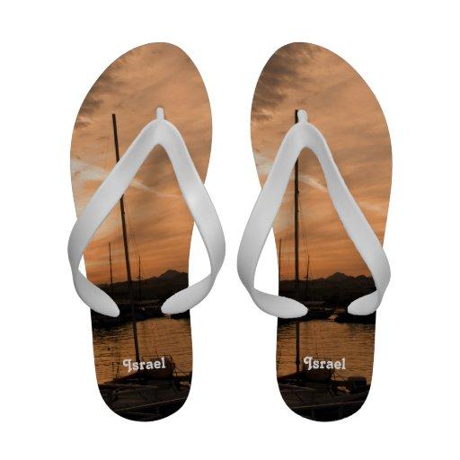 Por do sol de Israel Sandalias De Praia