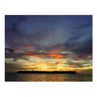 Por do sol de Key West Cartão Postal