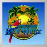 Por do sol de Key West Posters