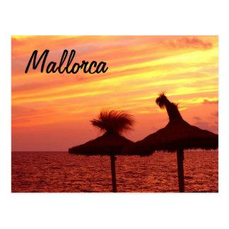 Por do sol de Mallorca - cartão