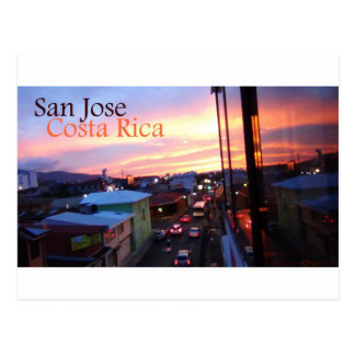 Por do sol de San Jose Costa Rica Cartao Postal