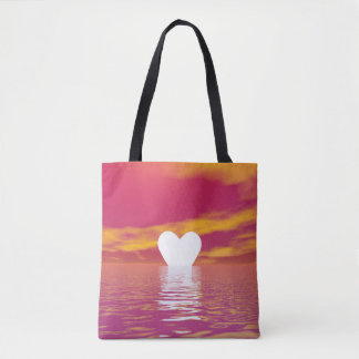 Por do sol do amor - 3D rendem Bolsa Tote