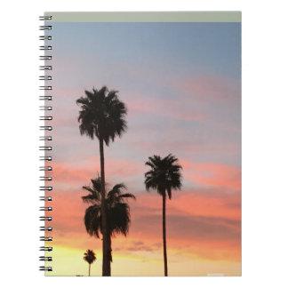 Por do sol do caderno