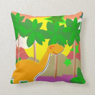 Por do sol do dinossauro travesseiro de decoração