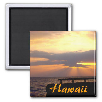 Por do sol do horizonte de Havaí Imã
