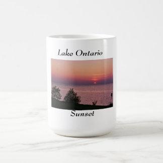 Por do sol do Lago Ontário Caneca De Café