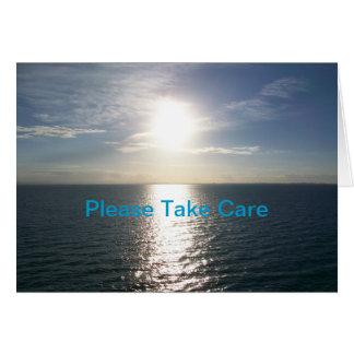 Por do sol do oceano - obtenha o cartão bom