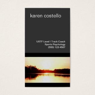Por do sol do ouro do auto-falante de Motivatioal Cartão De Visitas