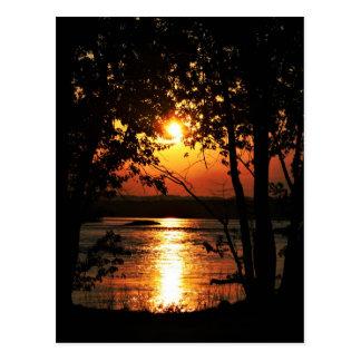 Por do sol do rio cartão postal