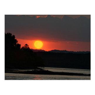 Por do sol do Rio Ohio Cartão Postal