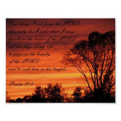 Por do sol do salmo poster