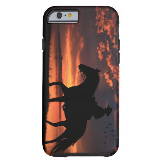Por do sol do vaqueiro capa tough para iPhone 6