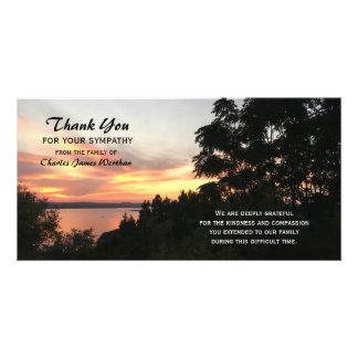 Por do sol e obrigado da simpatia da árvore você cartão