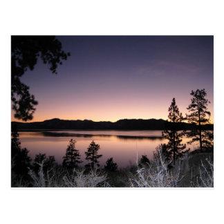 Por do sol em Lake Tahoe Cartão Postal