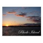 Por do sol em Rhode - ilha Cartões Postais