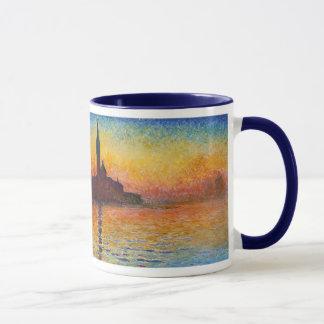 Por do sol em Veneza, Claude Monet Caneca