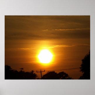Por do sol em Virginia Beach, VA. Pôster