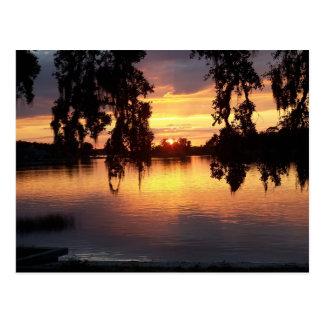 Por do sol em WIndermere, cartão de Florida
