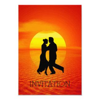 Por do sol Glam do partido do Vip da dança Latin Convite 8.89 X 12.7cm