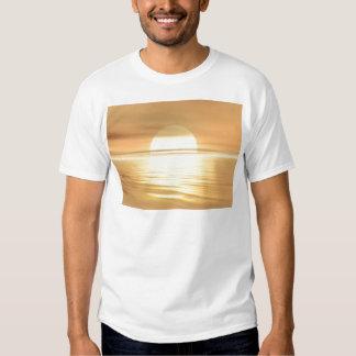 Por do sol grande camiseta