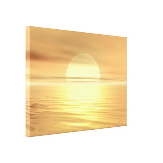 Por do sol grande impressão de canvas esticadas
