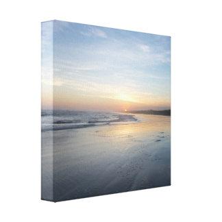 Por do sol indonésio impressão em tela