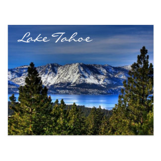 Por do sol Lake Tahoe Nevada/cartão de Califórnia Cartão Postal