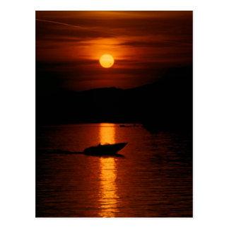 Pôr do sol Montreux cartão postal