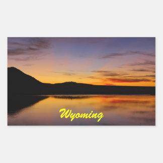 Por do sol na foto ocidental de Wyoming Adesivo Em Formato Retângular