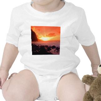 Por do sol Napali Kauai Havaí Macacãozinho Para Bebê
