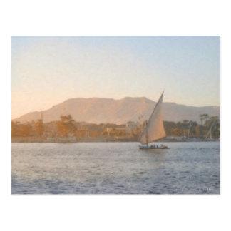 Por do sol no cartão de Luxor