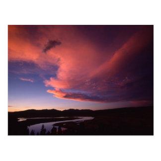 Por do sol no cartão do vale de Hayden