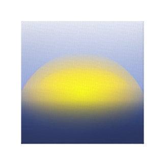 Por do sol no impressão da água com cores nos