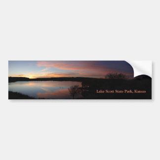 Por do sol no parque estadual de Scott do lago - Adesivo Para Carro