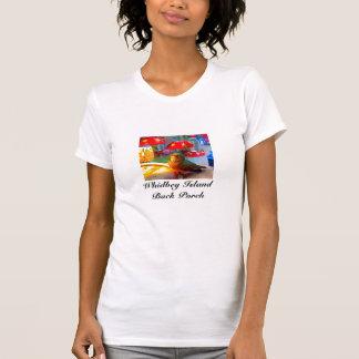 Por do sol no t-shirt do patamar camiseta