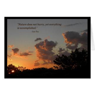 Por do sol - o Lao Tzu cita o cartão