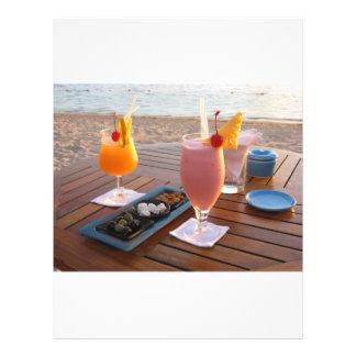 por do sol romântico panfleto coloridos