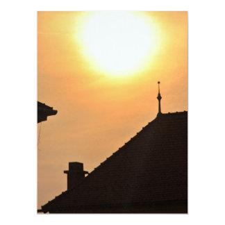 Por do sol simples convite 16.51 x 22.22cm