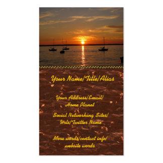 Por do sol sobre a ilha de Lummi Cartão De Visita