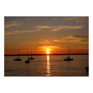 Por do sol sobre a ilha de Lummi Cartão De Visita Grande