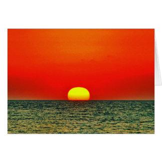 Por do sol sobre o MED Cartão De Nota